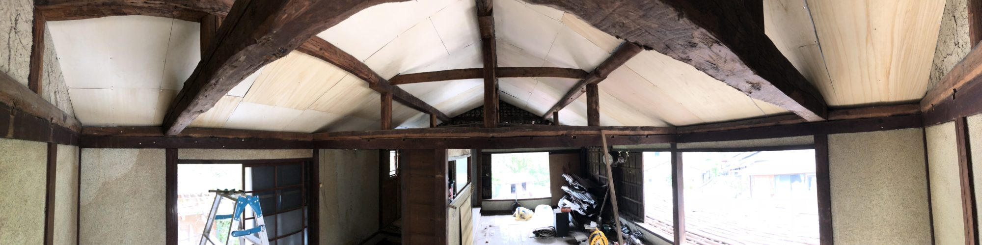 梁を見せる天井の作り方。その2